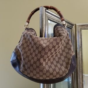 Authentic Gucci hobo - bamboo handle shoulder bag